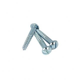 Zinc Plated Slotted Round Head Wood Screws